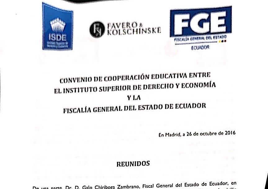 Acuerdo de colaboración educativa con Ecuador
